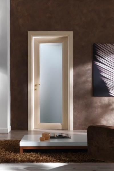 porte per interni curve in abete e vetro