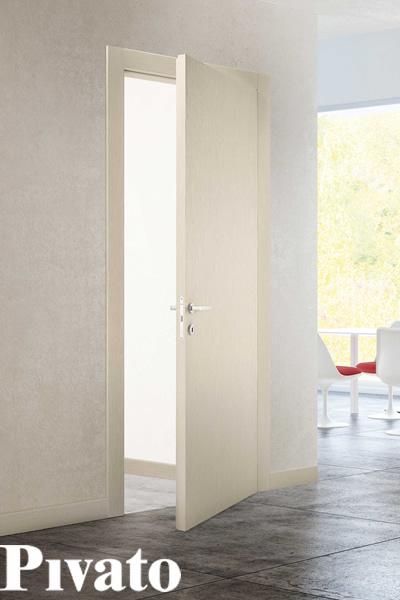 Porte interne inverse Pivato in rovere bianco