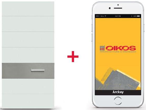 Sistema Arckey - controllo degli accessi integrato alle porte blindate Oikos